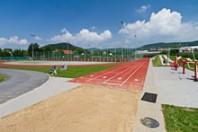 Sportoviště Zubří - Polyfunkční centrum - běžecká dráha, doskok