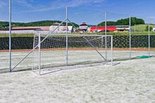 Sportoviště Zubří - Polyfunkční centrum - velké hřiště, brána